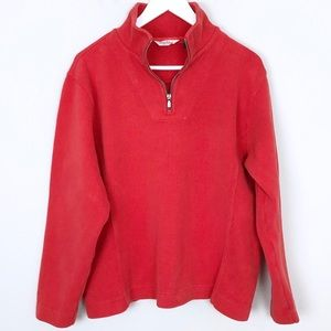 Tommy Bahama Red Quarter Zip Pullover - Size L